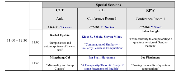 Special Sessions 2