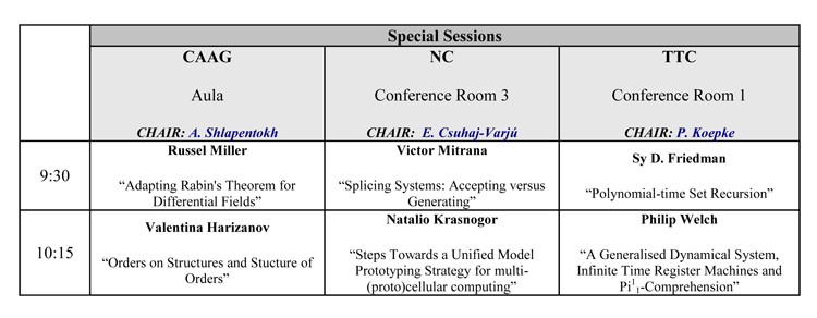 Special Sessions 3